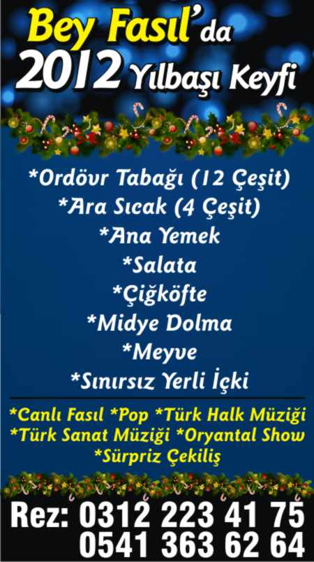 Bey Fasıl 2012 Yılbaşı Programı