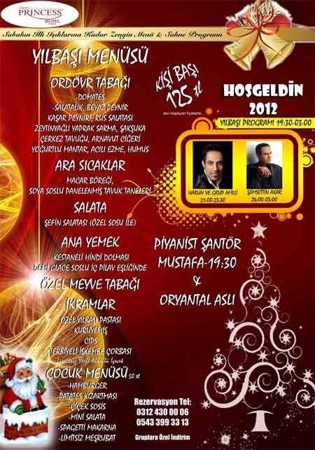 Princess Hotel 2012 Yılbaşı Programı