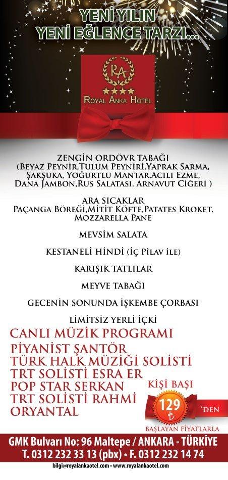 Royal Anka Otel 2014 Yılbaşı Programı