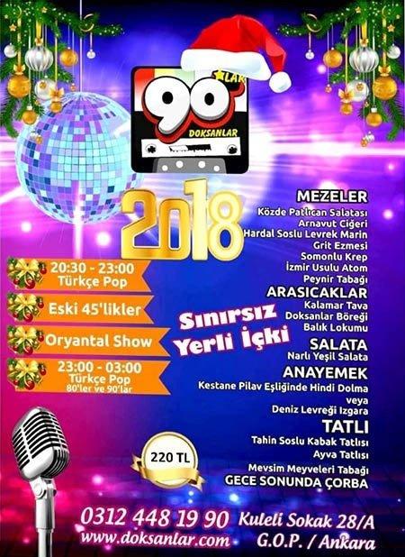 90'lar Ankara Yılbaşı Programı 2018