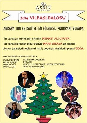Ankara Asrın Deluxe Otel 2014 Yılbaşı Programı