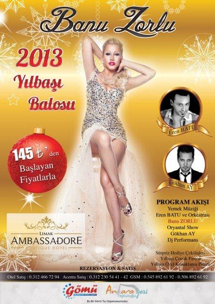 Limak Ambassadore Otel 2013 Yılbaşı Programı