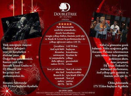 DoubleTree by Hilton Ankara 2012 Yılbaşı Programı