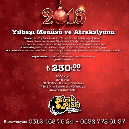Kırık Plak Ankara Yılbaşı Programı 2016