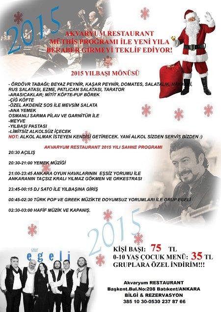Akvaryum Restaurant 2015 Yılbaşı Programı