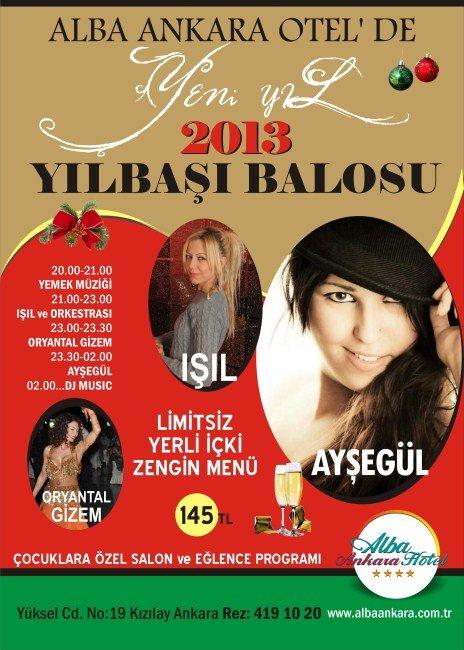 Alba Otel 2013 Yılbaşı Programı
