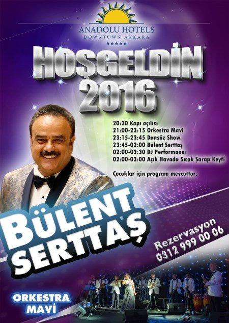 Anadolu Hotels Downtown Ankara Yılbaşı 2016