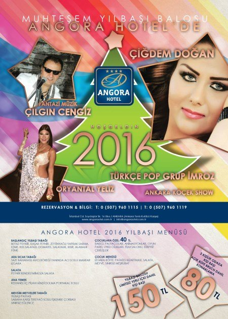 Angora Hotel Yılbaşı Programı 2016