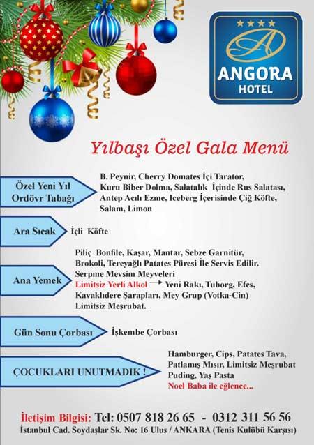 Angora Otel Ankara Yılbaşı Programı 2019
