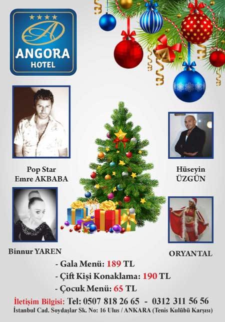 Angora Hotel Yılbaşı Programı 2019