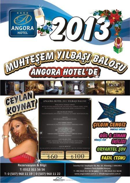 Angora Otel 2013 Yılbaşı Programı