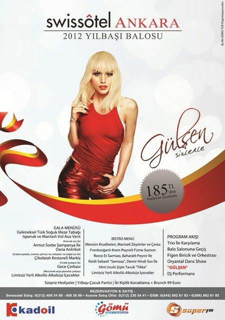 Swiss Otel Ankara 2012 Yılbaşı Programı
