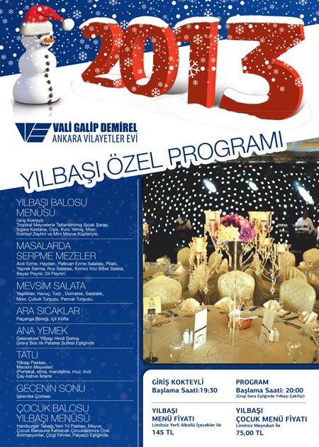 Gölbaşı Vilayetler Evi 2013 Yılbaşı Programı