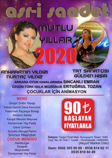 Asr-ı Saadet Ankara Yılbaşı 2020
