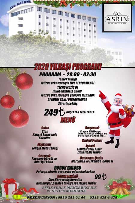 Asrın Park Otel Yılbaşı Programı 2020