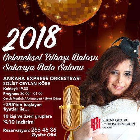 Bilkent Otel Yılbaşı Programı 2018