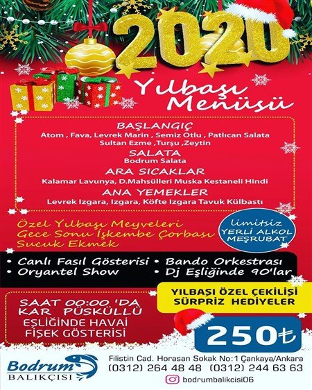 Bodrum Balıkçısı Ankara Yılbaşı 2020