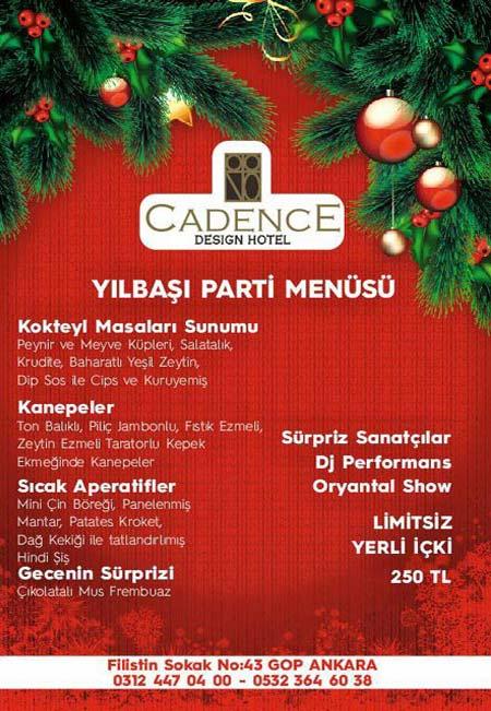 Cadence Hotel Yılbaşı Programı 2020