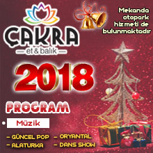 Çakra Restaurant Yılbaşı 2018