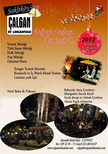 Çalgan Et Lokantası 2012 Yılbaşı Programı