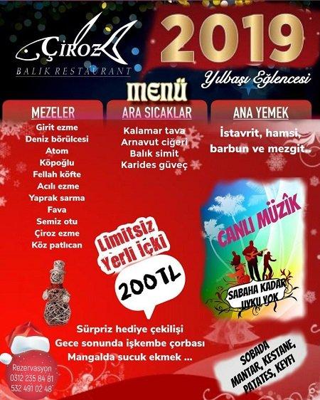 Çiroz Balık Ankara Yılbaşı Programı 2019