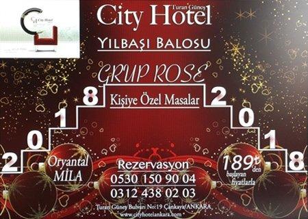 City Hotel Ankara Yılbaşı 2018