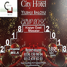 City Hotel Ankara 2018 Yılbaşı