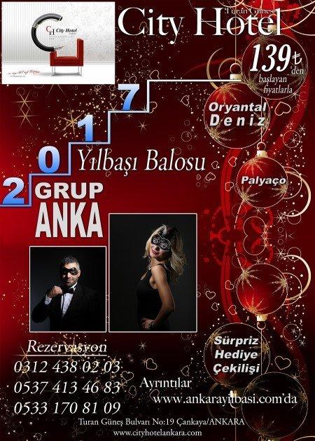City Hotel Ankara Yılbaşı 2017