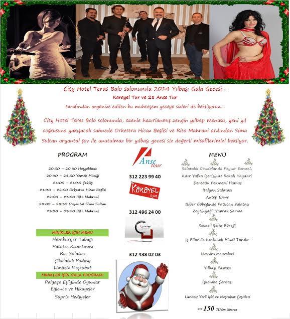 City Otel 2014 Yılbaşı Programı
