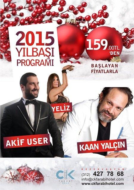 CK Farabi Otel 2015 Yılbaşı Programı