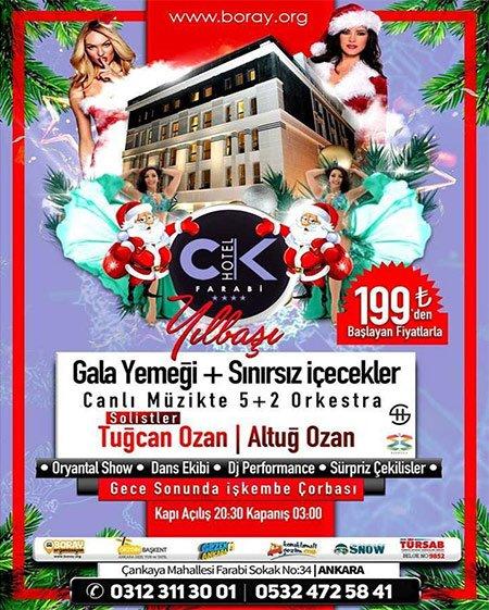 CK Farabi Otel Yılbaşı Programı 2018