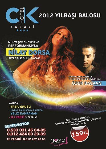 CK Farabi Otel 2012 Yılbaşı Programı