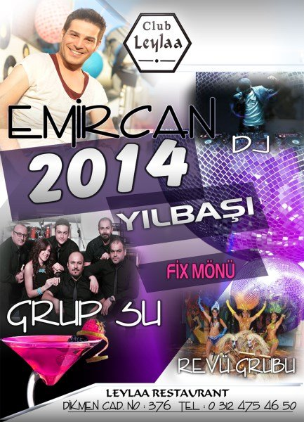 Club Leylaa 2014 Yılbaşı Programı