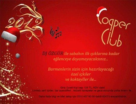 Copper Club 2012 Yılbaşı Programı