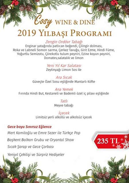 Cosy Ankara Yılbaşı Programı 2019