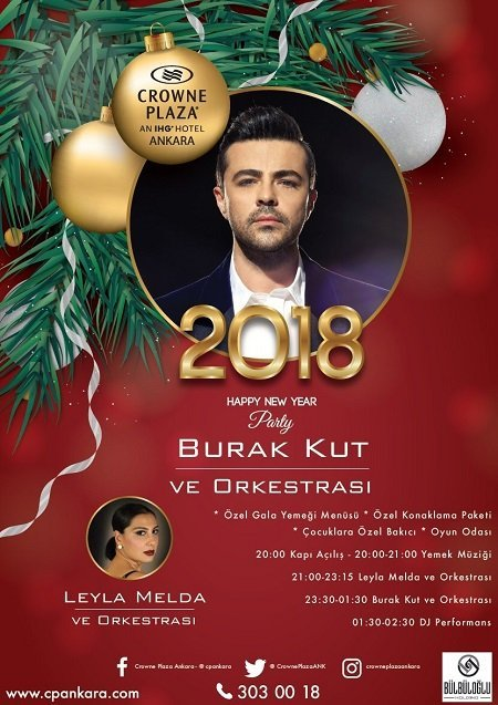 Crowne Plaza Ankara Yılbaşı Programı 2018