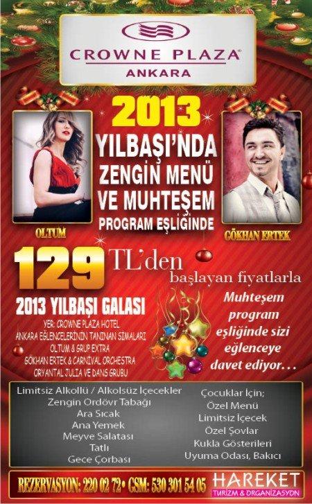 Crowne Plaza Ankara 2013 Yılbaşı Programı