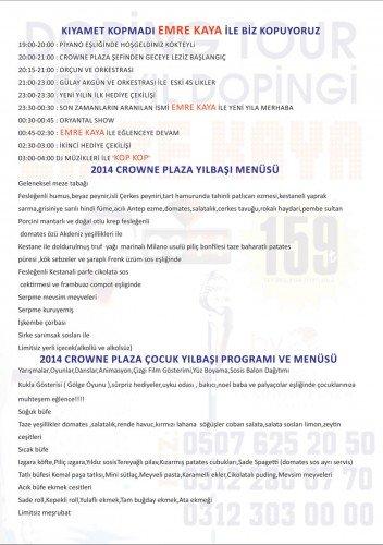 Crowne Plaza Doping Tur 2014 Yılbaşı