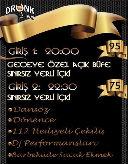 Drunk Pub 2012 Yılbaşı Programı