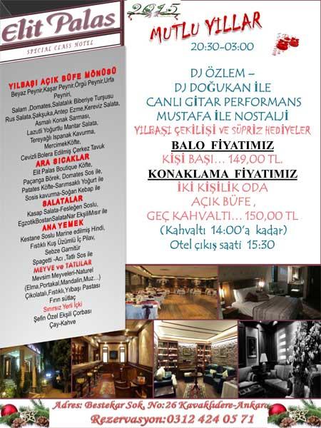 Elit Palas Otel 2015 Yılbaşı Programı