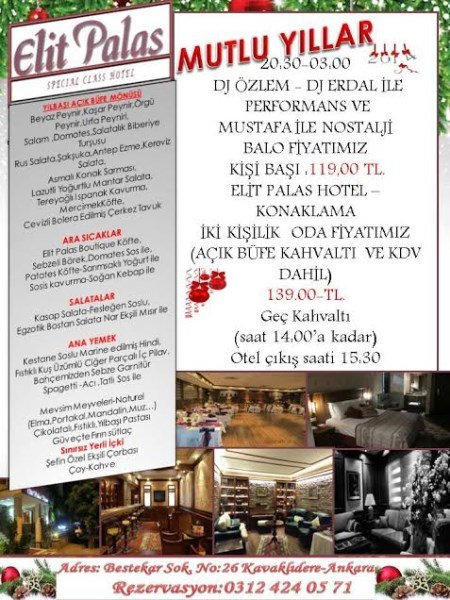 Elit Palas Otel 2014 Yılbaşı Programı
