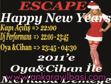 Escape Ankara 2011 Yılbaşı Programı