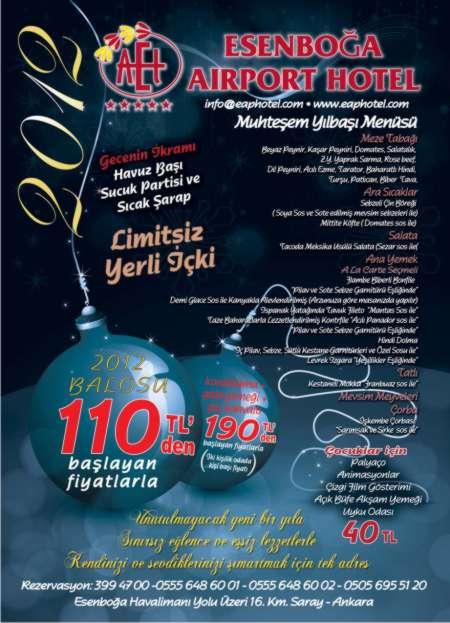 Esenboğa Airport Otel 2012 Yılbaşı Programı