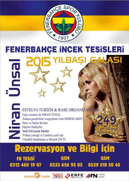 Fenerbahçe İncek Tesisleri 2015 Yılbaşı Programı