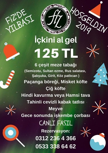 Fiz Meyhane Ankara Yılbaşı 2019