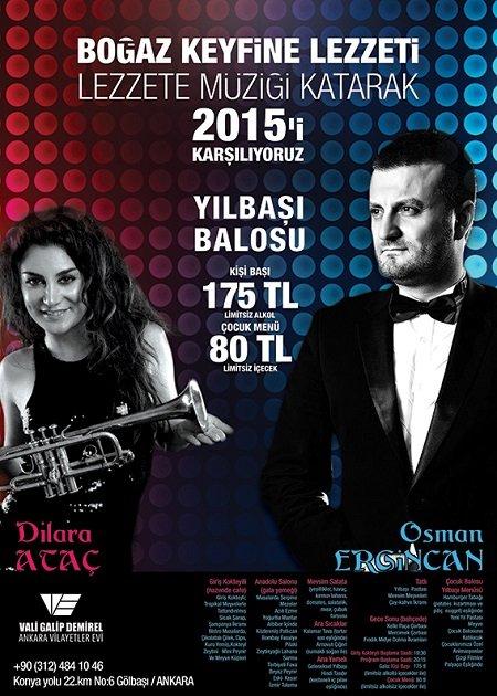 Ankara Vilayetler Evi 2015 Yılbaşı Programı