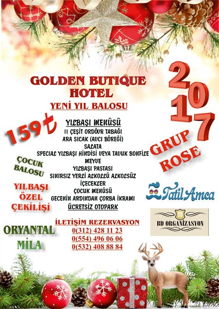 Golden Butik Otel Yılbaşı Programı 2017