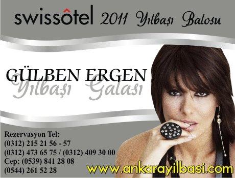 Swiss Otel Ankara 2011 Yılbaşı Programı – Gülben Ergen 2011 Yılbaşı