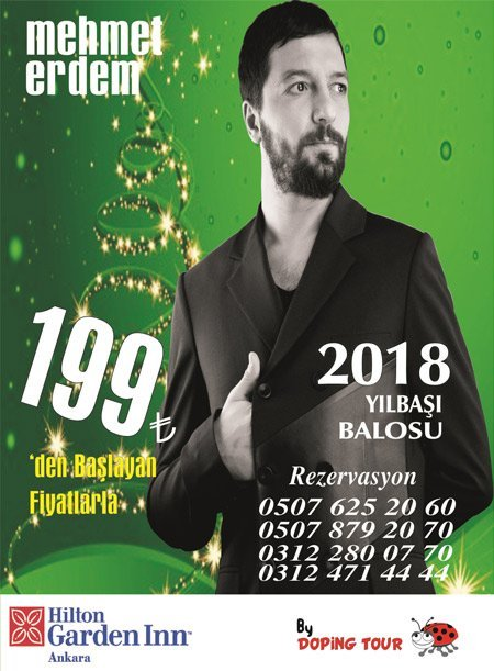 Hilton Garden Inn Yılbaşı Programı 2018 – Mehmet Erdem