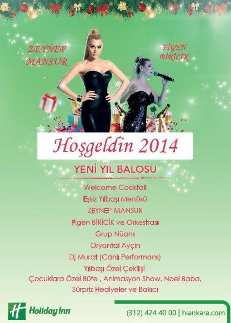 Holiday Inn Otel 2014 Yılbaşı Programı